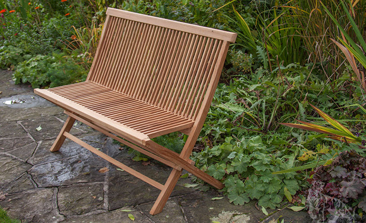 Brodsworth Folding Teak Bench