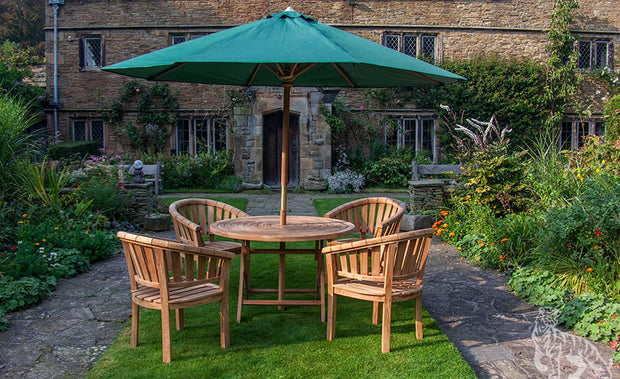 Wentworth Four Seat Teak Garden Furniture Set