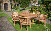 Sherringham Six Seat Teak Oval Sunburst Set