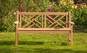 Keddleston Three Seat Teak Bench Paddle Arms
