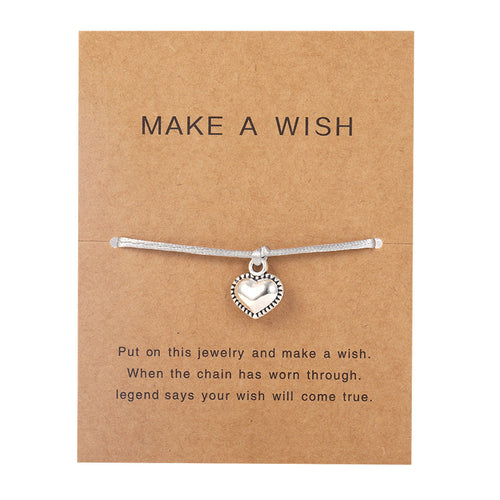 Make a Wish - Heart - Grey