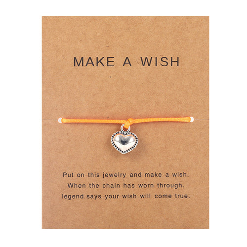 Make a Wish - Heart - Orange