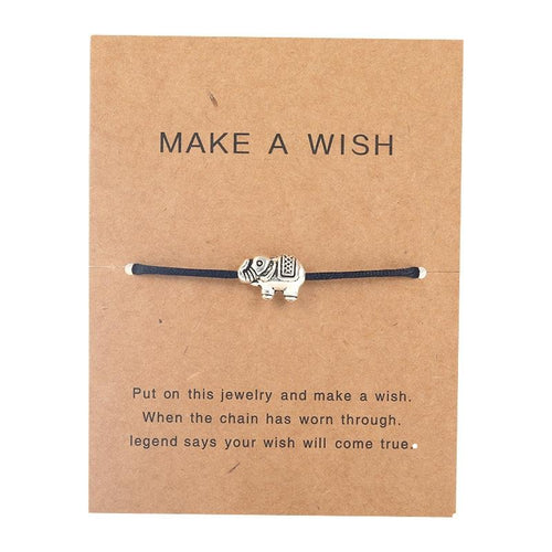 Make a Wish - Elephant - Black