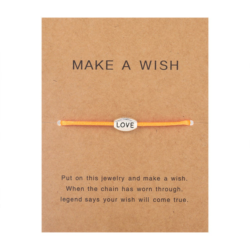 Make a Wish - Love - Orange