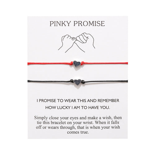 Pinky Promise - Black / Love red