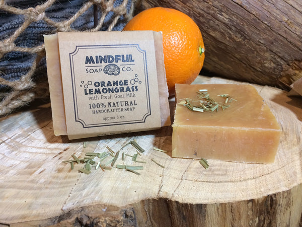 Orange Lemongrass Bar with Fresh Goat Milk