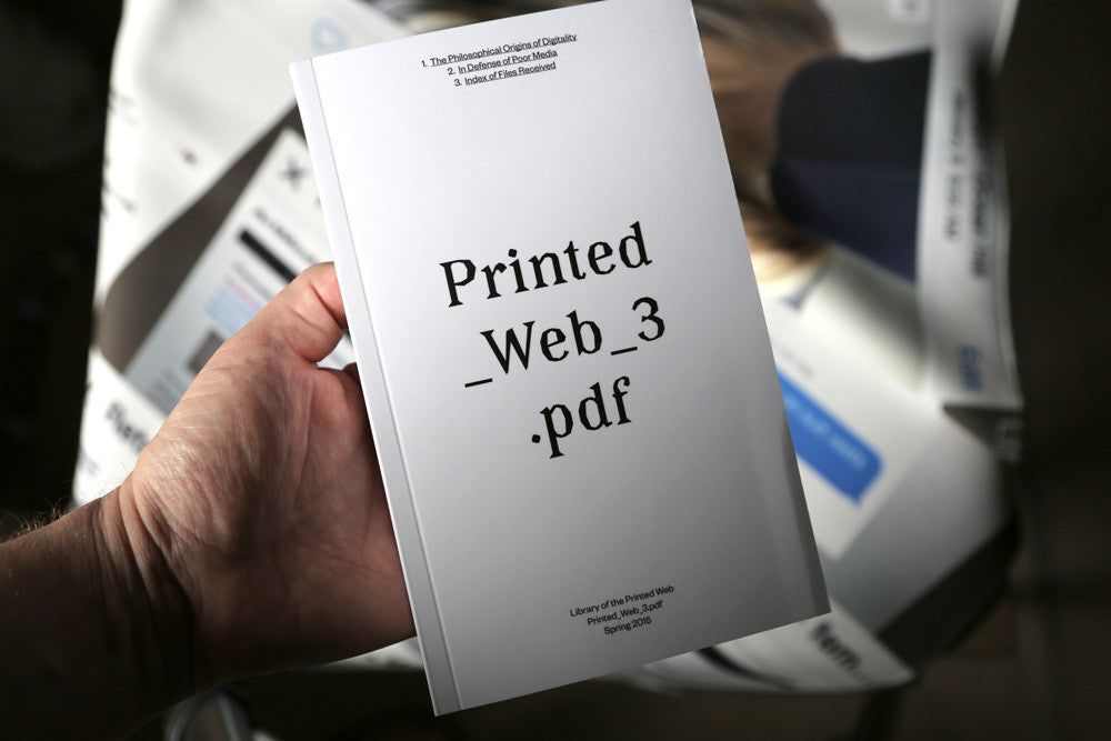 Printed Web 3, Paperback Reader/Index