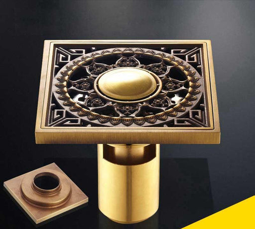 Bath Drains - Antique Brass Unique Style Bathroom Shower Drain