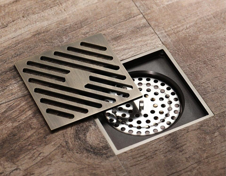 Bath Drains - Retro Brass Bathroom Floor And Kitchen Drain