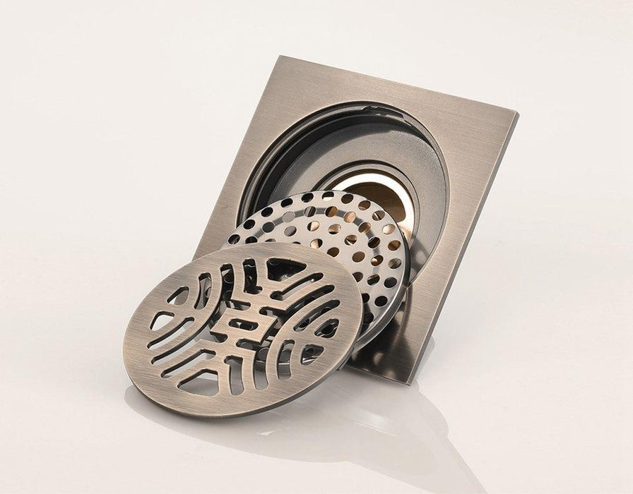 Bath Drains - Stainless Steel Art Carved Floor Drain
