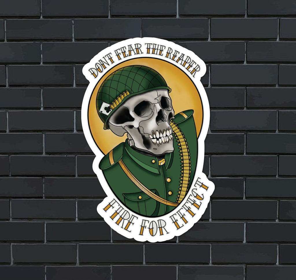 Fear The Reaper Sticker - The Kensington Corner