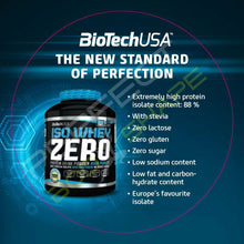Load image into Gallery viewer, BIOTECH USA ISO WHEY PROTEIN ZERO BLACK 500G  CREATINE + TESTOSTERONE