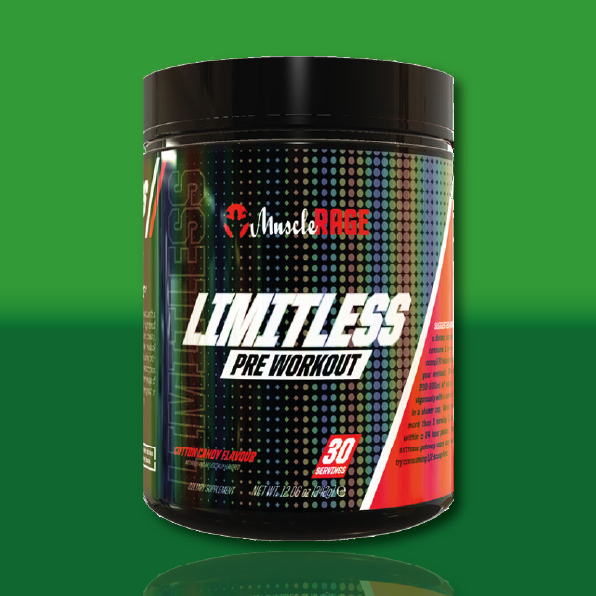 Limitless Powder pre workout available in two flavours