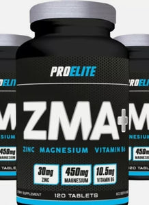 Pro Elite ZMA contains an advanced formulation of Zinc and Magnesium that can increase growth compounds and IGF1 levels. Zinc is essential for cellular growth and tissue repair as well as maintaining a healthy immune system. Magnesium is essential for maintaining electrolyte