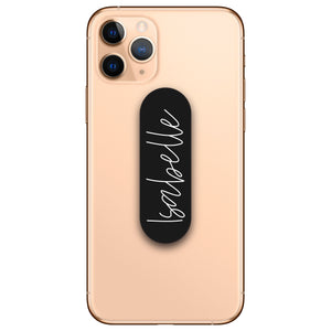 Personalised Black Phone Loop