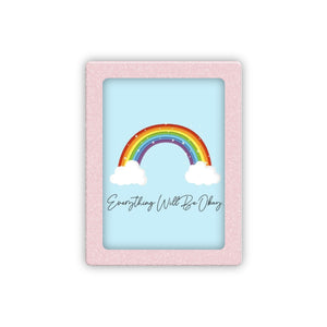 Pink Glitter Magnetic Photo Frame