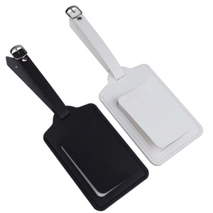 Black Personalised Luggage Tag