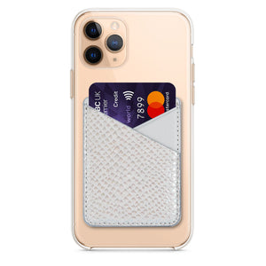 Grey Holographic Phone Wallet