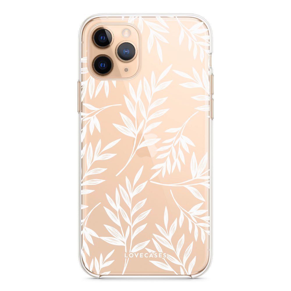 Load image into Gallery viewer, White Tropical Palm Phone Case