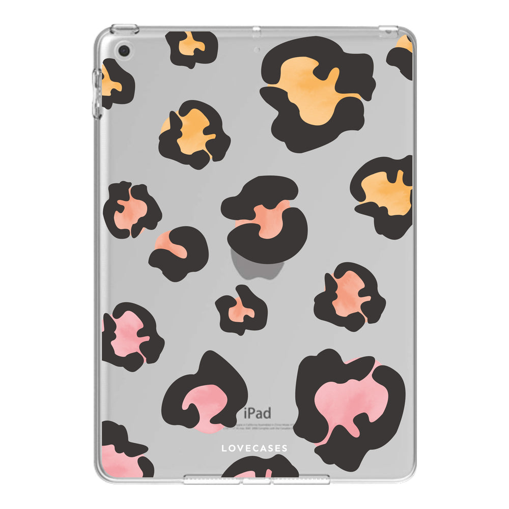 Colourful Leopard Print iPad Case