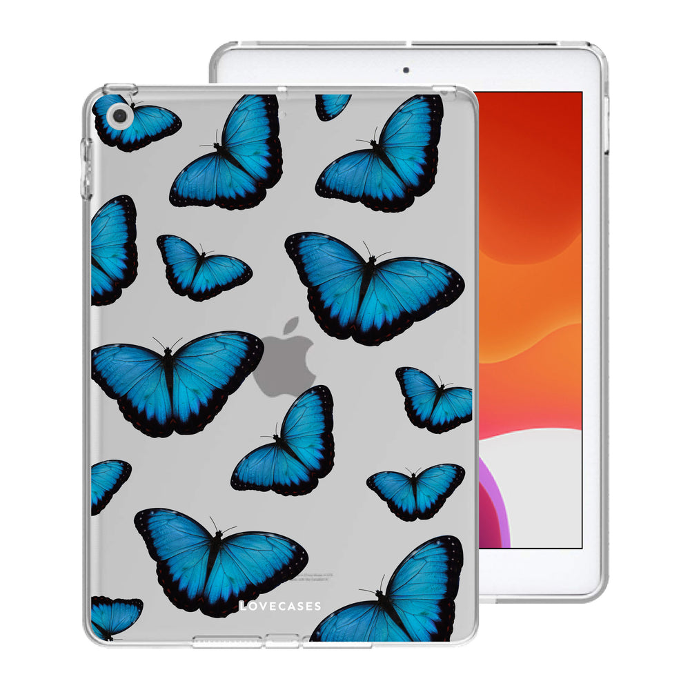 Load image into Gallery viewer, Blue Butterfly iPad Case