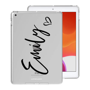 Load image into Gallery viewer, Personalised Black Script iPad Case