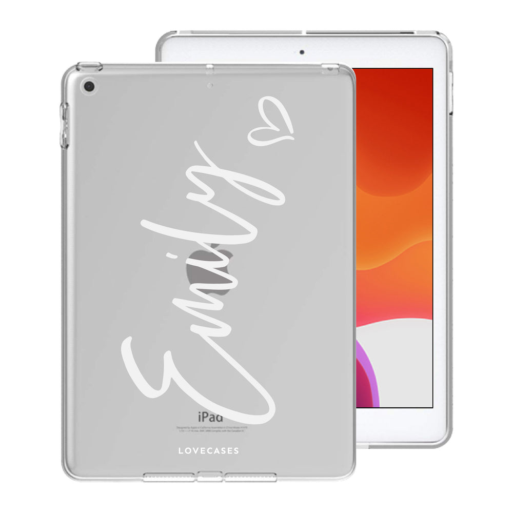 Personalised White Script iPad Case