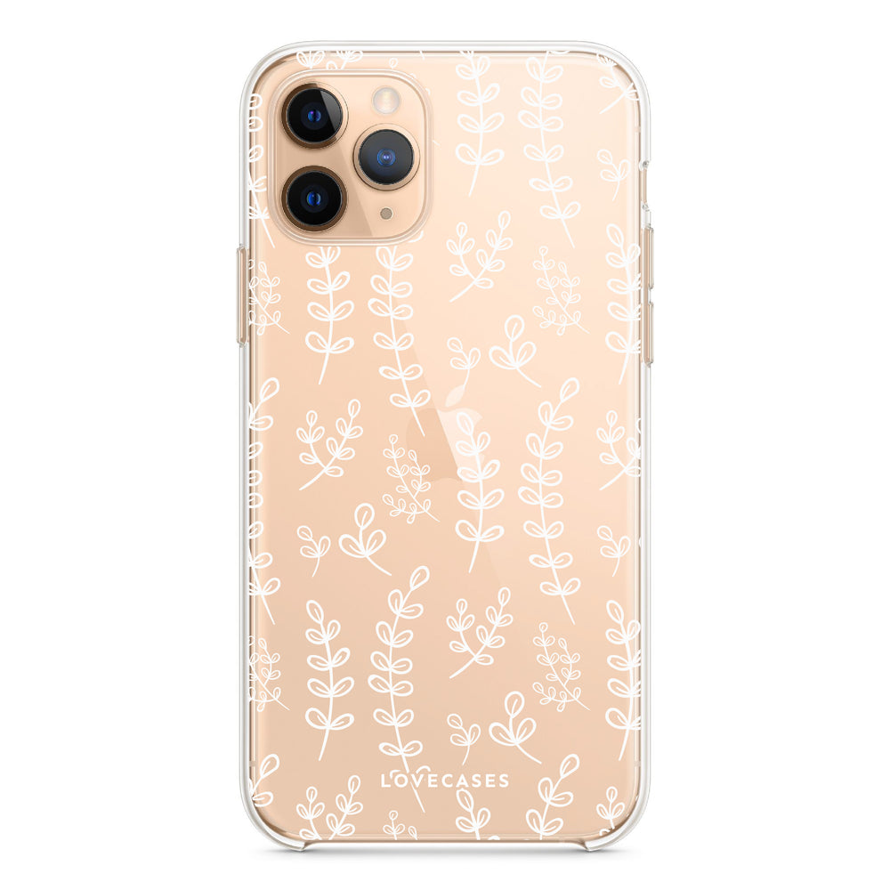 Load image into Gallery viewer, White Botanical Phone Case