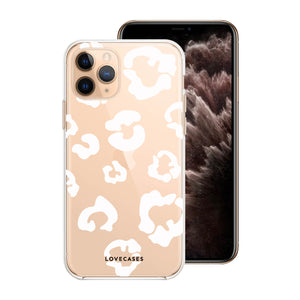 Load image into Gallery viewer, White Leopard Print Phone Case