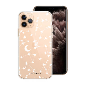 White Stars & Moons Phone Case