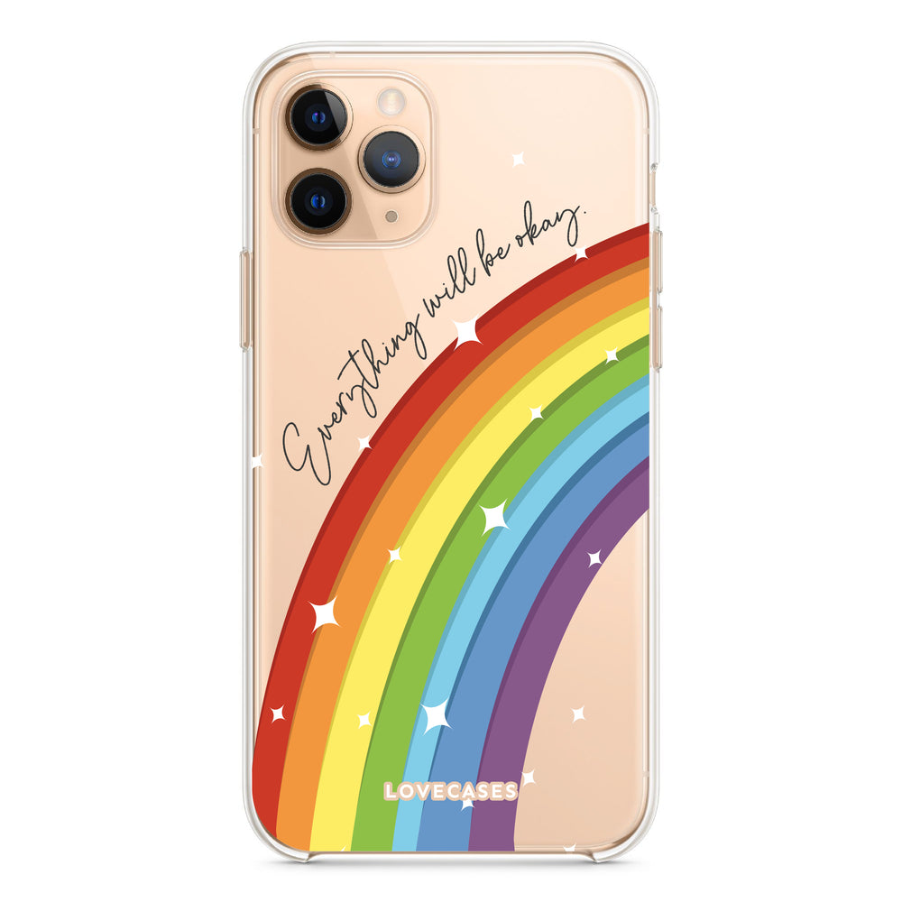 Load image into Gallery viewer, Everything Will Be Okay Rainbow Phone Case