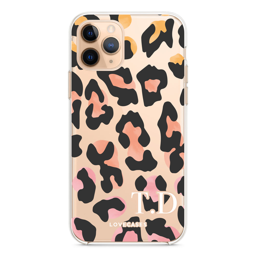 Personalised Coloured Leopard Phone Case