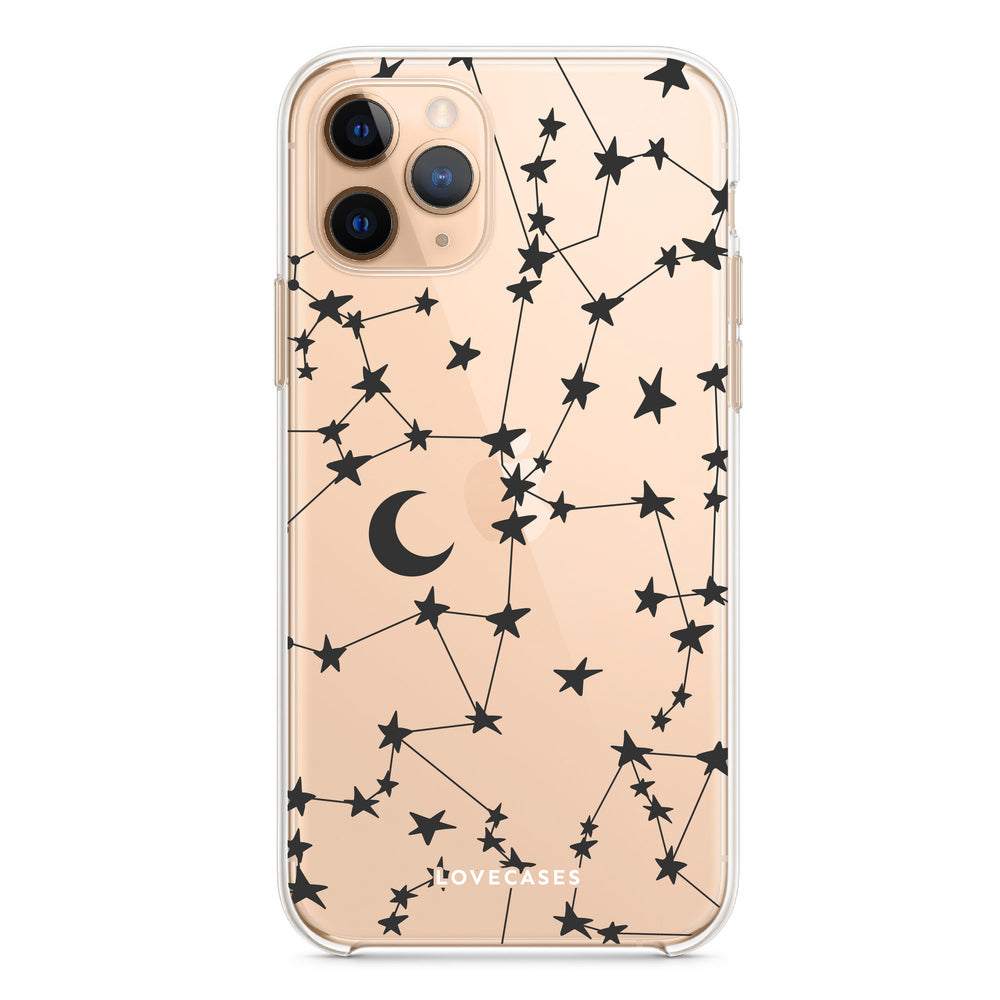 Load image into Gallery viewer, Black Stars & Moons Phone Case