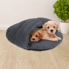 Load image into Gallery viewer, Medium Cave Pet Bed - Grey
