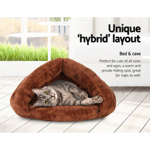 Load image into Gallery viewer, Washable Cave Pet Bed - Brown