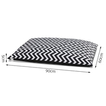 Load image into Gallery viewer, Extra Large Canvas Pet Bed - Black & White