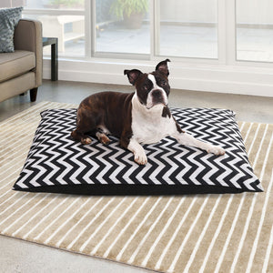 Extra Large Canvas Pet Bed - Black & White