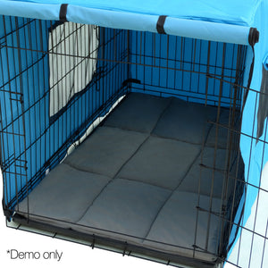 42inch Metal Collapsible Pet Cage Cushions Grey