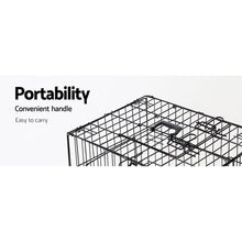 Load image into Gallery viewer, 48inch Collapsible Pet Cage with Cover - Black & Blue