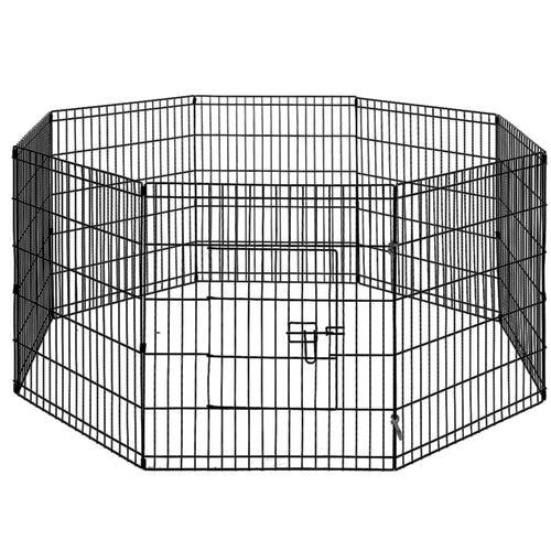 i.Pet 30 8 Panel Pet Dog Playpen Puppy Exercise Cage Enclosure Play Pen Fence