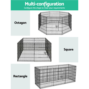 "30"" 8 Panel Pet Dog Playpen Puppy Exercise Cage Enclosure Play Pen Fence"