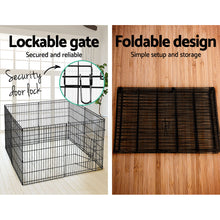 "Load image into Gallery viewer, 30"" 8 Panel Pet Dog Playpen Puppy Exercise Cage Enclosure Play Pen Fence"