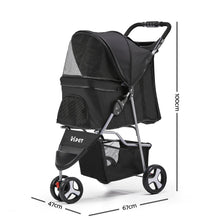 Load image into Gallery viewer, 3 Wheel Pet Stroller - Black
