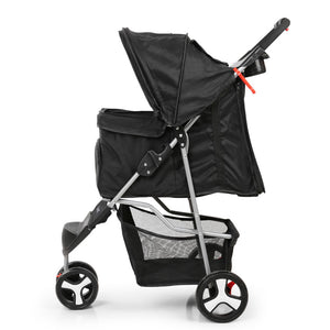 3 Wheel Pet Stroller - Black