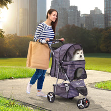 Load image into Gallery viewer, 3 Wheel Pet Stroller - Blue