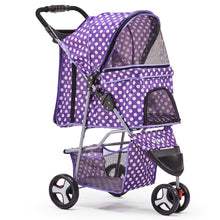 Load image into Gallery viewer, i.Pet 3 Wheel Pet Stroller - Purple