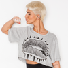 MOUTHY SPIKED CROP TOP