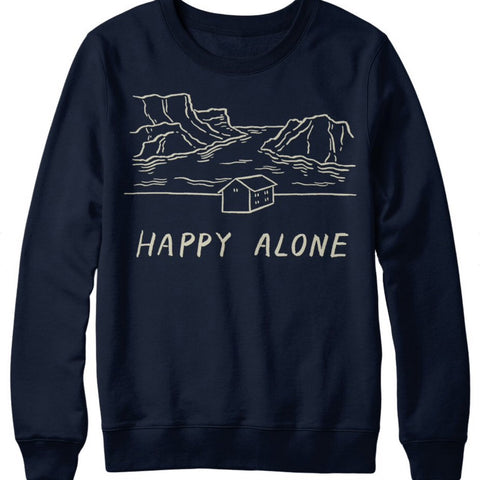 HAPPY ALONE CREWNECK - STAY HOME CLUB