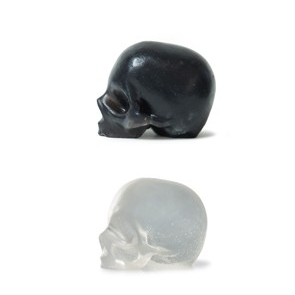 BLACK ACTIVATED CHARCOAL & CLEAR GLYCERIN SKULL SOAPS 3 PACK