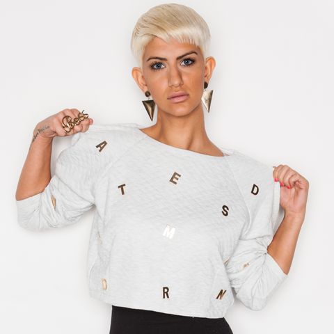 ABC CROP SWEATER